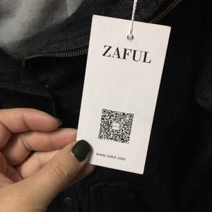 Zaful Jackets & Coats - Denim/ sweatshirt jacket, never been worn!